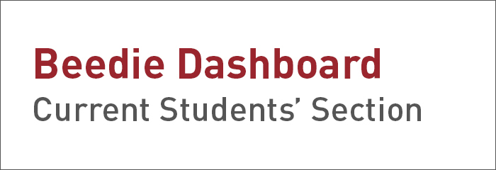 Beedie Current Students'Dashboard