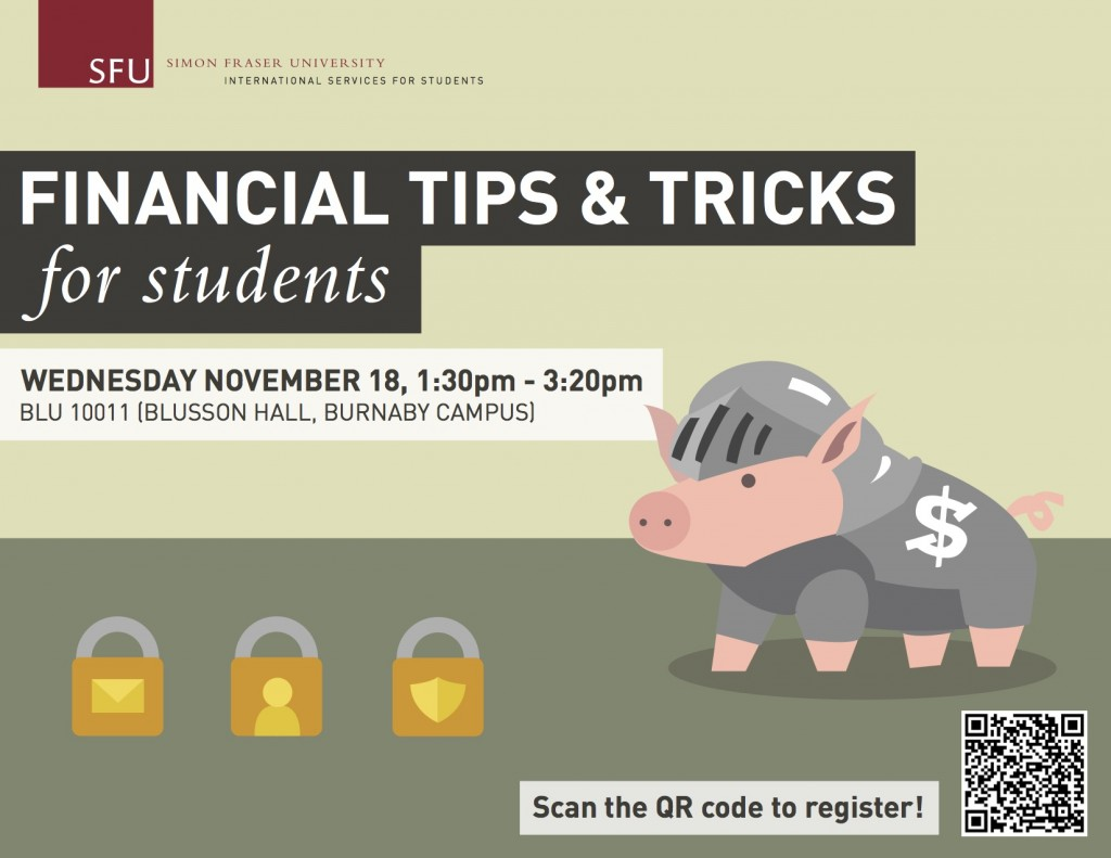 Financial tips and tricks for students november 18 for Minimalist tips and tricks