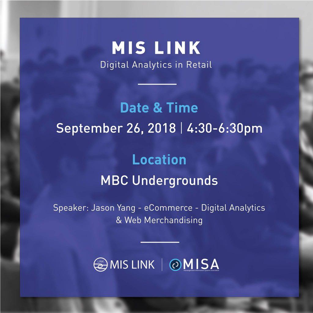 MISA] MIS Link #1: Digital Analytics in Retail [event:2018