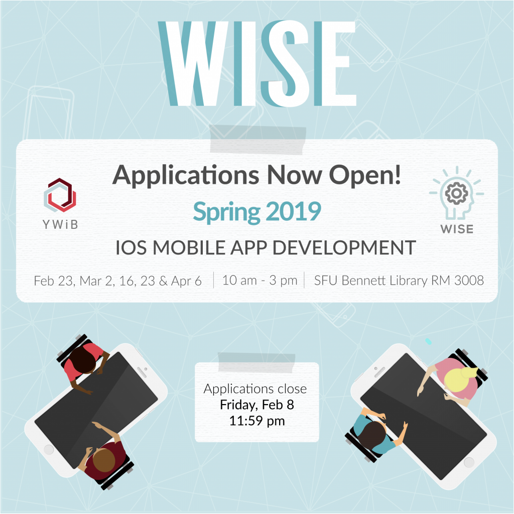 YWiB SFU] Wise iOS Mobile App Development Applications Open